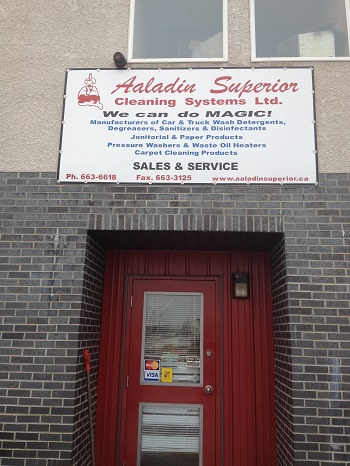 Aaladin Superior Cleaning Systems shop in Winnipeg, Manitoba